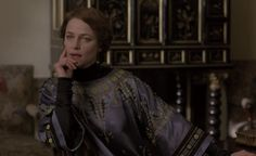 """Charlotte Rampling as 'Aunt Maude' in ''The Wings of the Dove"""" film Character Costumes, Movie Costumes, Christopher Niquet, Luchino Visconti, Charlotte Rampling, Period Movies, Period Dramas, Married Woman, British Actresses"""
