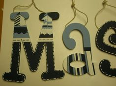 Chase Wooden Wall Letters Nautical Theme por TrendyTotsLetters