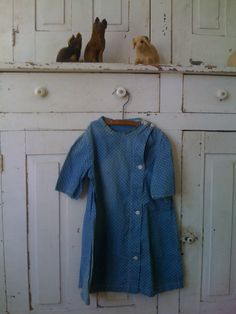 19Th C Early Child's Calico Dress