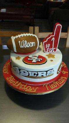Excellent 123 Best 49Er Cakes Images 49Ers Cake Cupcake Cakes Cake Funny Birthday Cards Online Overcheapnameinfo