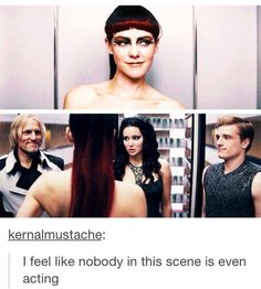 Lol haymitch is just like 'well hello there' lol katniss is like 'oh my god.' and peeta is just there like ' katniss you ain't got nothing on her' lol Hunger Games Memes, Hunger Games Fandom, The Hunger Games, Hunger Games Catching Fire, Hunger Games Trilogy, Johanna Hunger Games, Catching Fire Funny, Hunger Games Haymitch, Tribute Von Panem