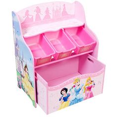 Really want to get this for bella  Disney - Princess 3-Tier Toy Organizer with Rollout Toy Box