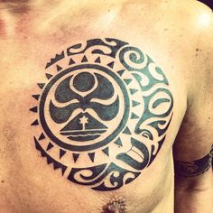 Polynesian Chest Piece by A.R.T. Graduate Oksana Weber. Click for more information on how to become a tattoo artist.