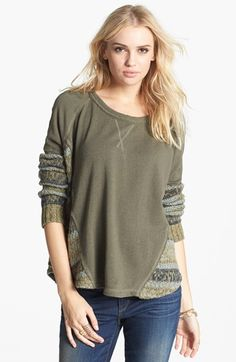 cozy knit pullover, turn two sweaters into one looser tunic.