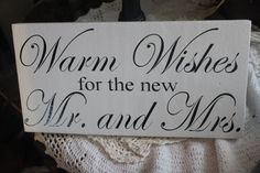 wishes for mr. and mrs. sign