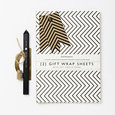 Luxury Gift Wrap Set | Zig-Zag | Black and White