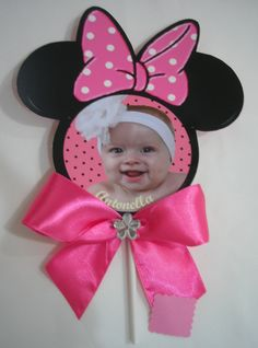 New baby shower centerpieces for girls diy mice ideas Minnie Mouse First Birthday, Baby Mickey, Mickey Party, Mickey Mouse Birthday, Mickey Minnie Mouse, Baby Birthday, 1st Birthday Parties, Diy For Girls, Birthday Decorations