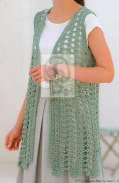 Gilet Crochet, Crochet Vest Pattern, Granny Square Crochet Pattern, Crochet Jacket, Crochet Cardigan, Crochet Scarves, Crochet Clothes, Crochet Patterns, Crochet Hats