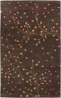 Surya Athena Floral and Paisley Area Rug Brown
