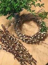 Spring wreath of catkins and box twigs Spring wreath of catkins and box twigs Moss Wreath, Diy Wreath, Burlap Wreath, Easter Wreaths, Holiday Wreaths, Mesh Ribbon Wreaths, Flower Wreaths, Driftwood Wreath, Peonies And Hydrangeas