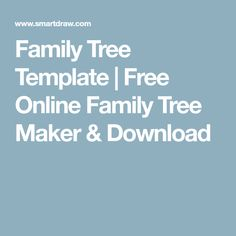 create family tree online template