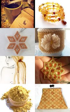 Handmade Golden Glow by Dix Cutler on Etsy--Pinned with TreasuryPin.com
