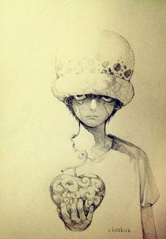 One Piece, Trafalgar Law. – One Piece Manga Anime, Fanart Manga, Anime Art, One Piece Manga, Photo Manga, Fruit Sketch, One Piece Pictures, Trafalgar Law, Estilo Anime