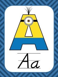 Minion Themed Alphabet Posters