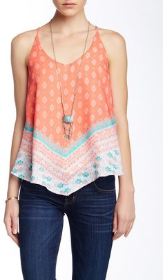 Want & Need Scarf Tank & Necklace