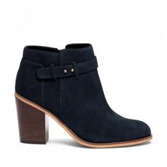 Ink Navy Heeled Ankle Bootie | Lyriq | Free Shipping on Orders $50+