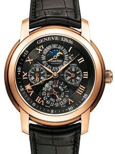 Audemars Piguet 26003OR.OO.D002CR.01 Jules Audemars Equation Of Time 43mm Black Roman Perpetual Calendar Rose Gold Leather BRAND NEW