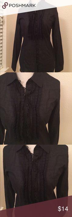 New York & Co Black Ruffled Top Beautiful Sheer black blouse. New York & Company New York & Company Tops Blouses