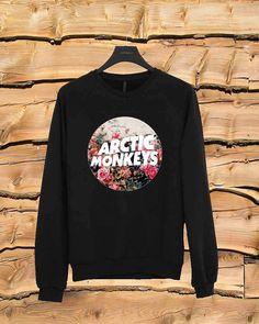 Arctic Monkeys flower sweater Sweatshirt Crewneck Men by yobaan98