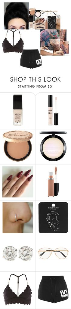 """""""New years resolutions video // 29 December 2017"""" by fuckmeirwin ❤ liked on Polyvore featuring Stila, NYX, Too Faced Cosmetics, MAC Cosmetics, Topshop, Gucci and River Island"""