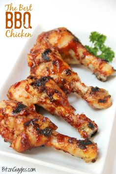 The Best BBQ Chicken- A special brine is the secret to this grilled BBQ chicken. It will produce the most flavorful and moist chicken you've ever tasted!
