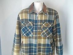 Woolrich Mens Vintage M Winter Coat Plaid Cecks Wool Nylon Acrylic Polyester USA #Woolrich #BasicCoat