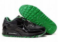 https://www.kengriffeyshoes.com/nike-air-max-90-black-green-p-738.html Only$69.00 #NIKE AIR MAX 90 BLACK GREEN #Free #Shipping!