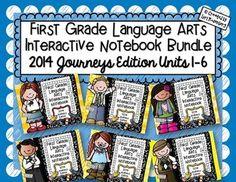 First Grade Interactive Notebooks {2014 Journeys Edition U