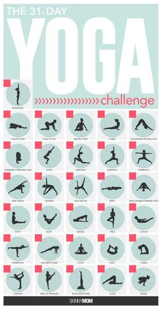 Take the challenge with these 31 yoga poses.
