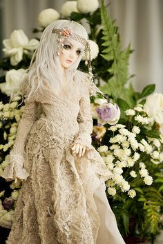 Wood Fairy, ball-jointed porcelain doll