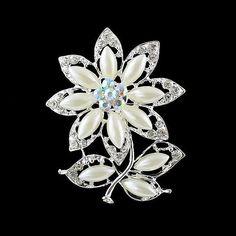 Weiß Farben Höhle Blumen Brosche 2014 Neue Modeschmuck Von