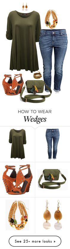 """You make me smile- plus size"" by gchamama on Polyvore featuring WearAll, H&M, Torrid, Giuseppe Zanotti, Chan Luu and Chico's"