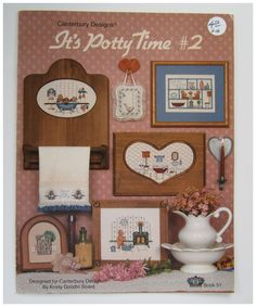It's Potty Time 2 Cross Stitch Patterns for Bathroom Canterbury Designs