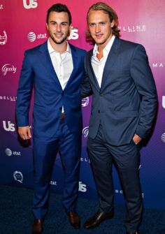 Derick Brassard and Carl Hagelin attend Us Weekly's Most Stylish New Yorkers of 2014