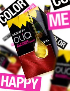 Color yourself happy with all of our rich red hair color shades from Garnier Olia!