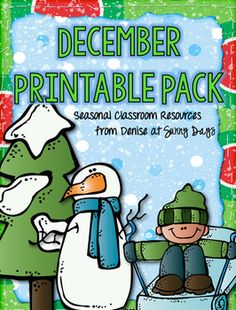 Enhance your December plans with 23 engaging seasonal themed printable activities. Use them as stand alone lessons, for your enrichment students, early finishers or fun partner activities in the days before a holiday break. They also work well for homework or for older buddy classes to work on together.