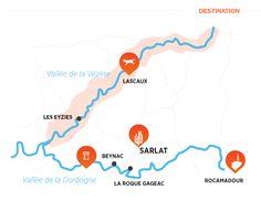 SVG La Roque Gageac, Lascaux, La Dordogne, Interactive Map, Map Design, Maps, Business Travel, Vacation, Cards