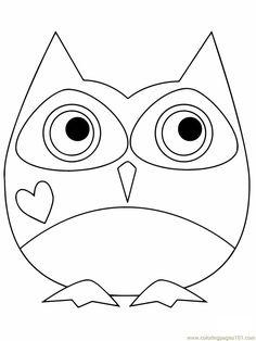 Baykuş boyama sayfası, Owl coloring pages, Página para colorear de búho, Картина сова. Heart Coloring Pages, Animal Coloring Pages, Free Printable Coloring Pages, Coloring Pages For Kids, Free Coloring, Baby Boy Knitting Patterns, Owl Applique, Valentines Day Coloring, Owl Cartoon
