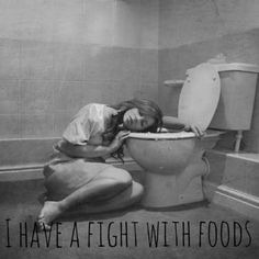 #Fat #Food #Vomit #Girl #Bulimic
