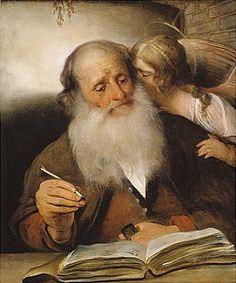 Saint Matthew and an Angel - Barent Fabritius