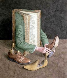 Pinzellades al món: Il·lustracions de Jonathan Wolstenholme: llibres quasi humans / Libros casi humanos / Almost human Books