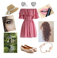 """""""Lovely and cute outfit for summer"""" by eliskiku ❤ liked on Polyvore featuring Chicwish, Eugenia Kim, Fiebiger, Salvatore Ferragamo, David Yurman and cute"""