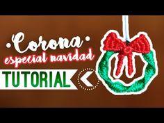Corona navideña / ♥︎ Tutorial de macramé | DIY | Paso a paso