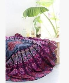 CAMMITEVER Indian Round Mandala Tapestry Outdoor Picnic Thin Blanket Throw Towels Women Beach Cover Up Printed Sunblock Yoga Ma