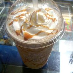 Need a morning pick me up? If you're in Norwalk, CT, come on down and grab a Caramel Latte from Calfe Mu! It's the perfect sweet frozen treat with a caffeine kick 👅☕❤