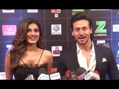 Tiger Shroff with his co-star Nidhhi Agerwal at Zee Cine Awards