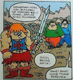 He-Man ve Tinerci Karikatürü Özer Aydoğan   Karikatürname