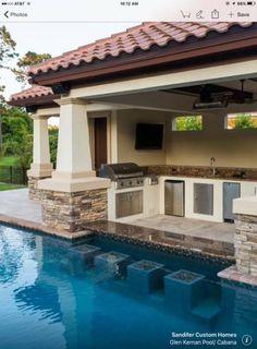 Backyard patio ideas with pool swim up bar Trendy ideas Backyard Pool Landscaping, Backyard Pool Designs, Small Backyard Pools, Swimming Pools Backyard, Outdoor Pool, Landscaping Ideas, Small Patio, Small Backyards, Pool House Designs