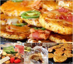 Bacon Cheese and Potato Nachos