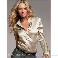 0f5c632db15 Top high quality women s new satin shirt fashion female long sleeve smooth  silk blouses plus size sex basic shirt blusas